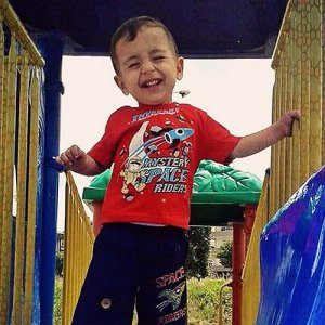 Aylun Kurdi, age three, alive and well before the tragic ordeal that led to his death.